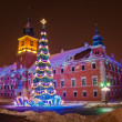 Christmas tree in Warsaw — Photo