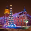 Christmas tree in Warsaw — Stock Photo