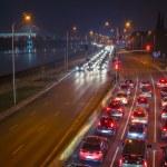 Highway at night. — Stock Photo