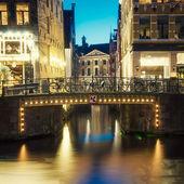 Canale di amsterdam — Foto Stock