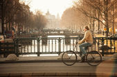 Man on Bicycle — Stock Photo