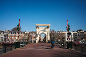 Amsterdam drawbridge — Stock Photo