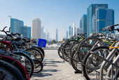 Bicycle parking in Dubai — Photo