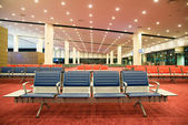 Large hall for the airport waiting — Stock Photo
