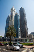 Skyscrapers in Dubai — Foto Stock