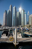 Skyscrapers in Dubai Marina — Foto de Stock