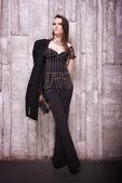 Beautiful woman in fashionable wearing — Stock Photo