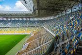 Empty football stadium — Stock Photo