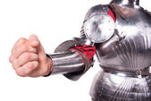 Fist of knight in armor — Stock Photo
