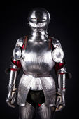 Knight in metal armor — Stock Photo