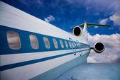 飛行中の飛行機 — ストック写真