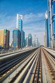 Metro van dubai — Stockfoto