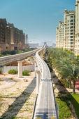 Stazione della monorotaia su isola palm jumeirah — Foto Stock