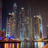 Modern skyscrapers in Dubai Marina — Stock Photo