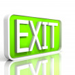 Royalty-Free Stock Photo: Illustration of a isolated exit sign