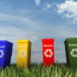 Stock Photo: Illustration of 4 recycling containers