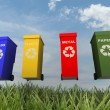 Illustration of 4 recycling containers — Stock Photo