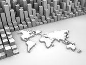 Illustration of stock trade around the world — Stock Photo