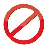 Niet toegestaan teken — Stockvector