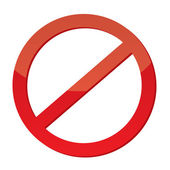 Not Allowed Sign — Vector de stock