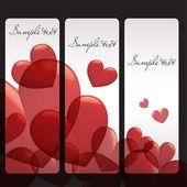 День Святого Валентина eps 10 вектор иллюстрированный баннеры — Cтоковый вектор