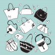 Royalty-Free Stock Vector Image: Vector bags collection
