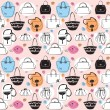 Seamless bag pattern — Stock Vector