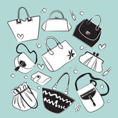 Vector bags collection — Stock Vector