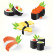 Sushi set - Stock Vector
