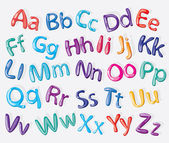 Cartoon colorful alphabet — Vector de stock
