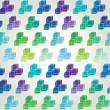 Background of  green and blue cubes, vector — Stock Vector