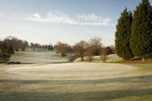 Winter Golf Course — Stock Photo