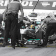 Lewis Hamilton - Merecedes F1 Driver & Pitstop Team - Stock Photo