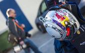 Sebastian Vettel's Helmet — Stock Photo