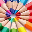 Color pencil draw art school educaation - Stock Photo
