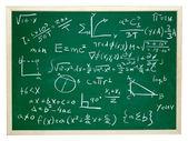 Wiskundige formules op blackboard schoolonderwijs — Stockfoto