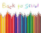 Color pencil draw art school educaation — Stock Photo