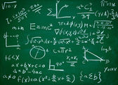Math formulas on school blackboard education — Stock Photo