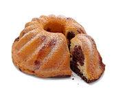 Baking marble chocolate cake sweet food — Stock Photo