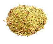 Mixed dry seasoning parsley and pepper — Stock Photo