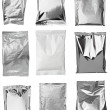 Aluminum metal bag package - Stock Photo