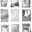 Aluminum metal bag package - Foto de Stock  
