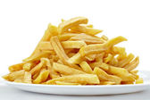 French fries unhealthy fast food — Stock Photo