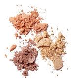 Make up powder facial cosmetics — Stock Photo