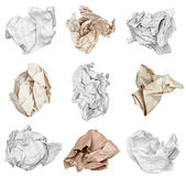 Paper ball crumpled garbage frustration — Foto Stock