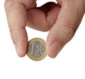 Coins euro money — Stock Photo