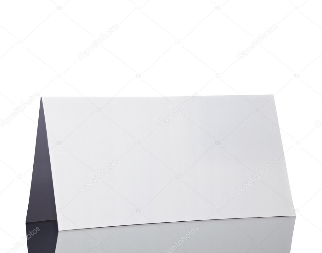Close up of  a folded card on white background  with clipping path — Stock Photo #13777019
