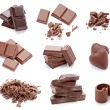 Chocolate dessert pieces sweet food — Stock Photo