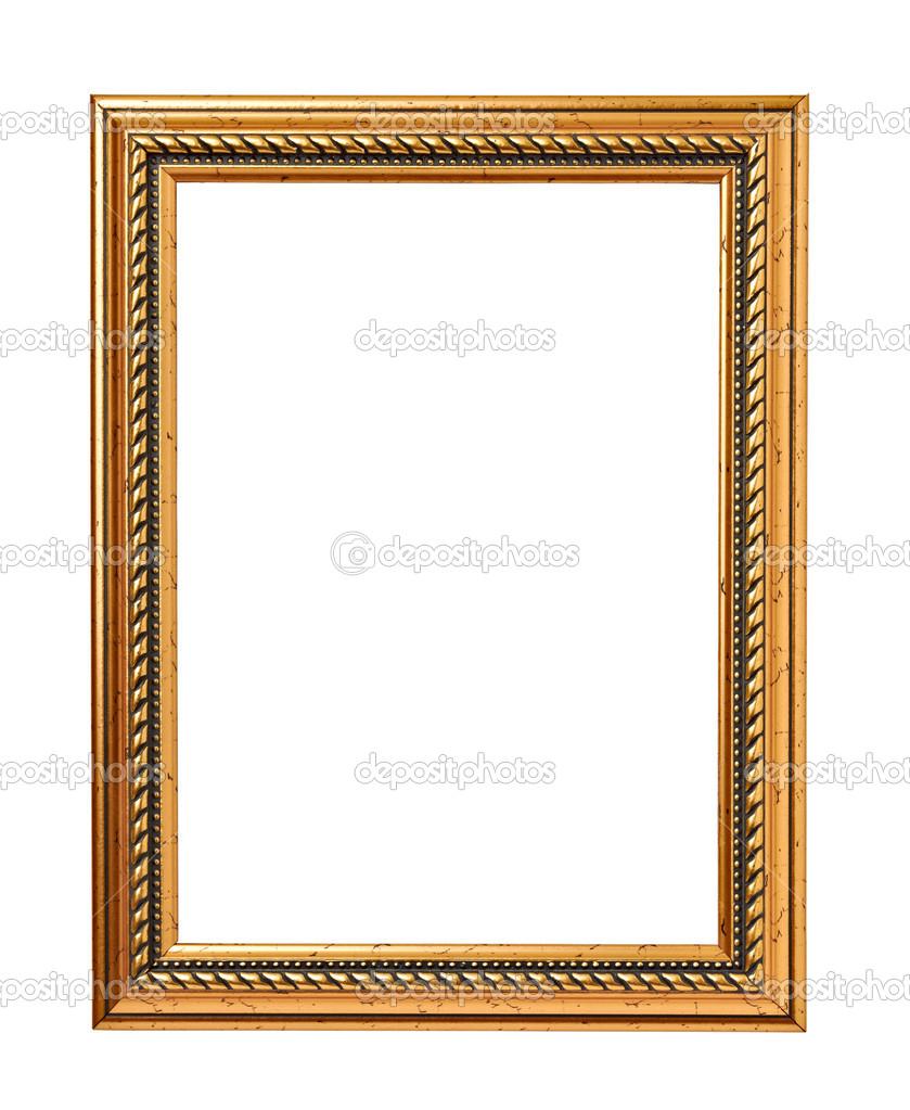 木框画或图片剪切路径与在白色背景上