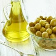 Stock Photo: Olive oil condiment vegeterian food